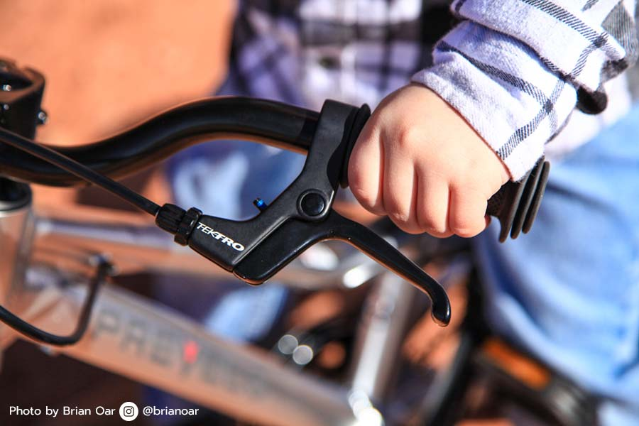 Both brake levers are within easy reach on the Prevelo Alpha Two