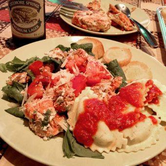 Ravioli dinner