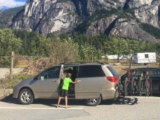 We drive a mini-van when we visit Canada