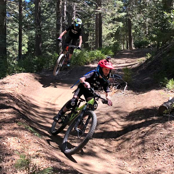 A couple of wily womp rats railing the berms at SkyPark at Santa's Village