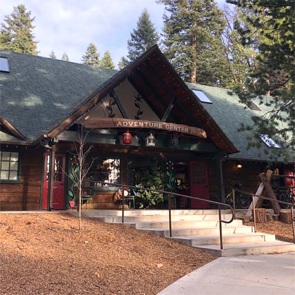 The Adventure Center is where you rent gear at SkyPark At Santa's Village