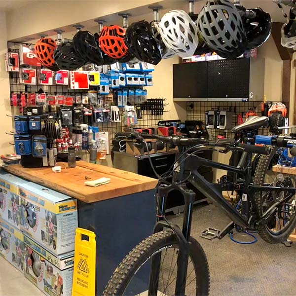 The on-site bike shop can help save the day if a minor repair is needed