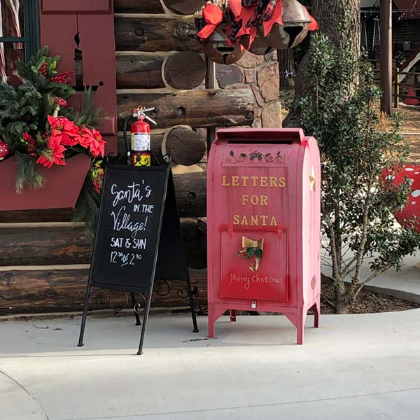 Post box in Santa's Village
