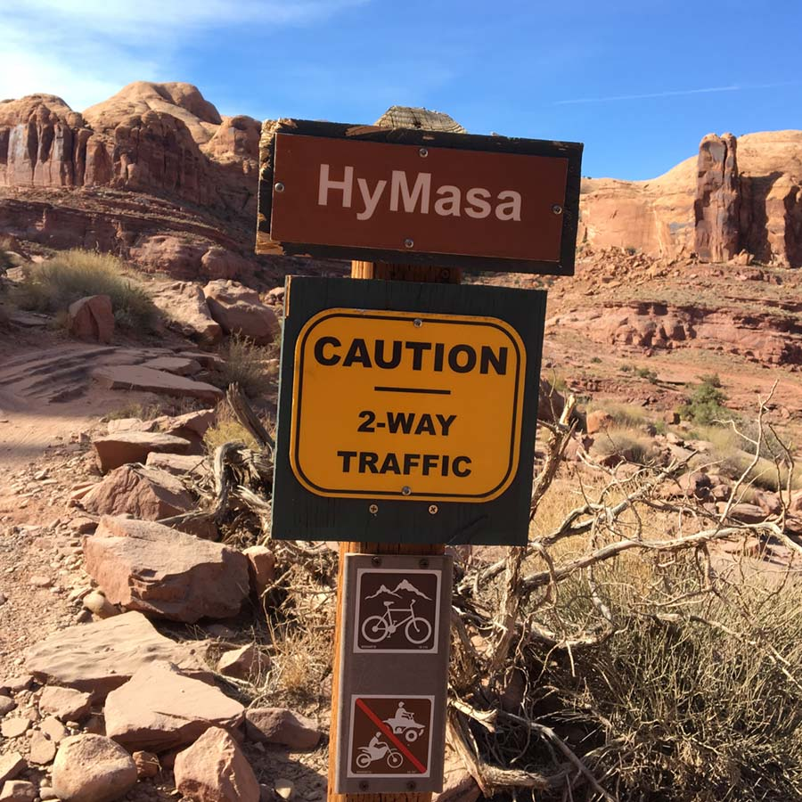 The entry to the Captain Ahab trail is reached via the Hymasa trail