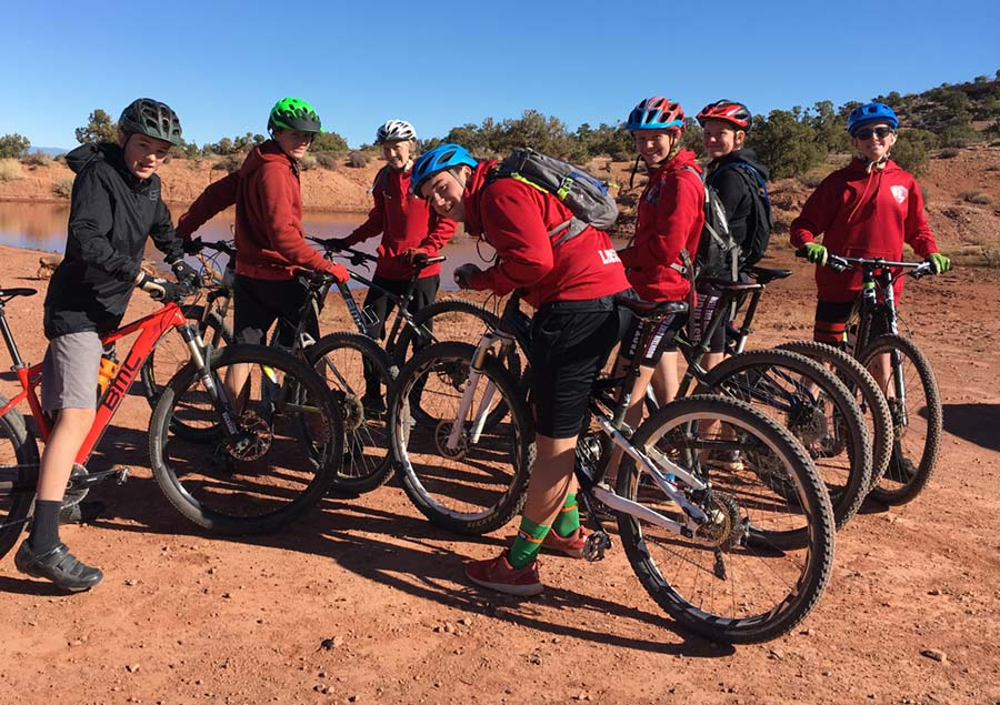 Hanging out with the East High MTB team following a race in southern Utah.