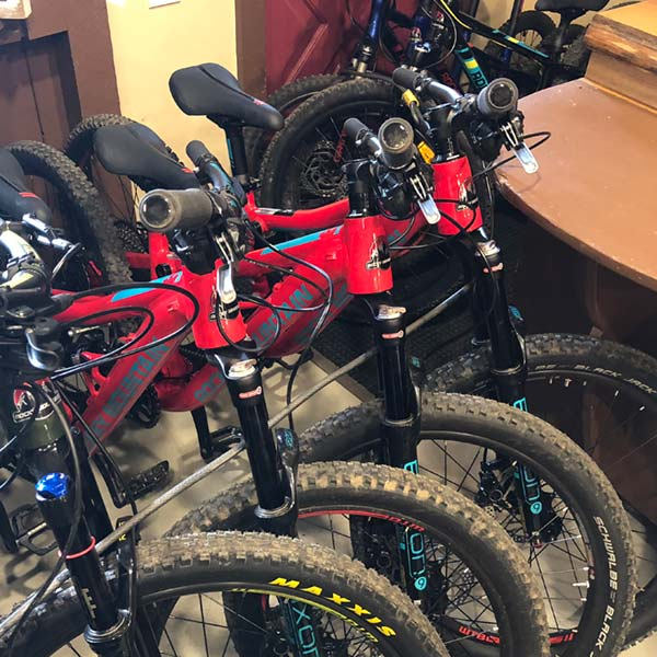 Full suspension youth mountain bikes are available to rent