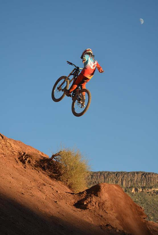 Alex Mallen rides near Virgin, Utah