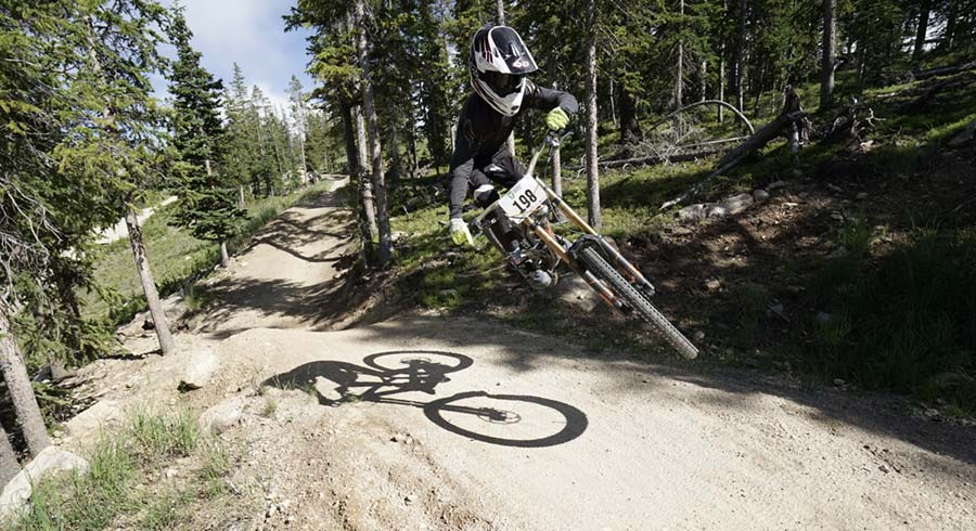 Outlaw rider Jesse Hoopes at Colorado's Trestle Bike Park