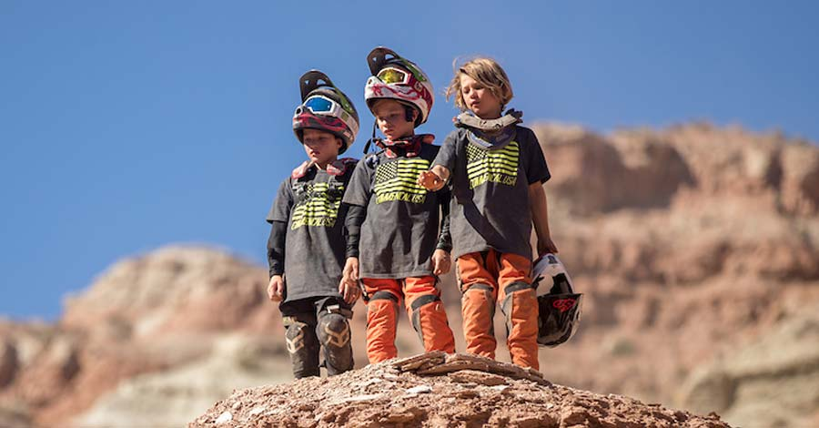 Three young members of the Outlaw Bike Team