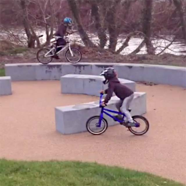 A little urban session on the bikes