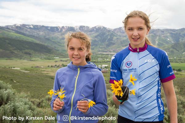 Young mountain bikers in Park City, Utah.