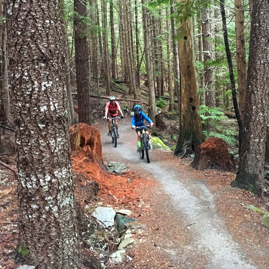 Climbing up the Molly Hogan Trail in Whistler