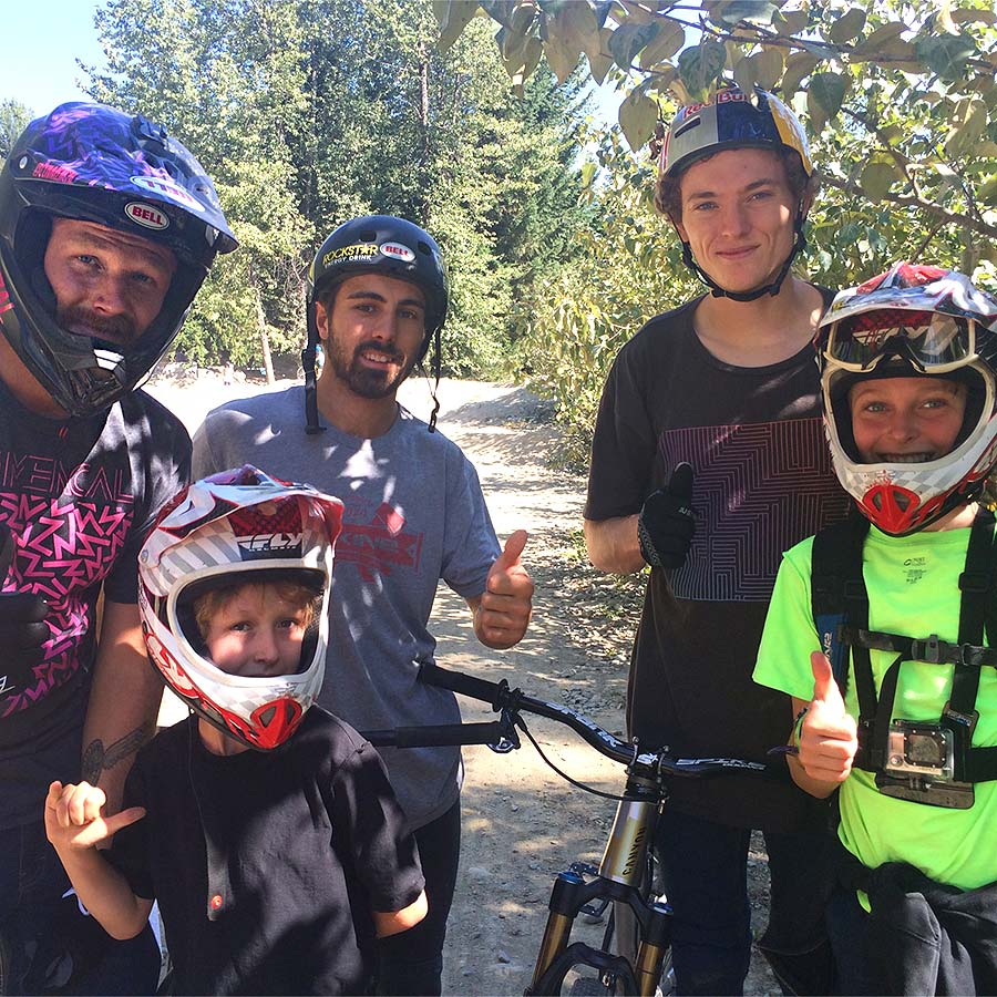 Even the Whistler dirt jumps offer options for beginner kids