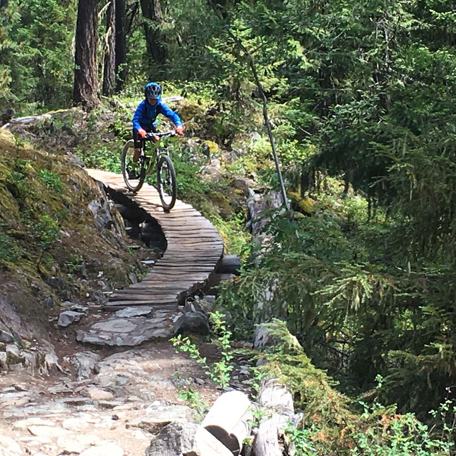 Why Johnny Can't Read - an intermediate mountain bike trail for kids