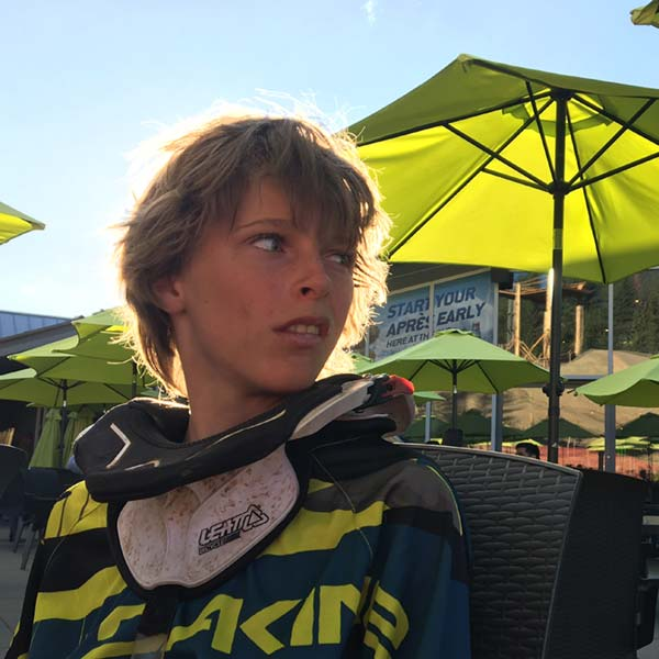 Getting seated at a restaurant during Crankworx Whistler