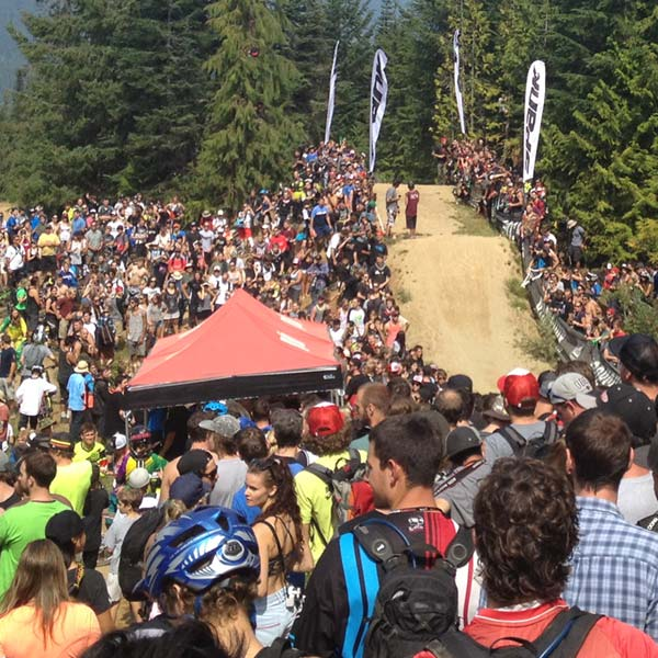 Crowded events during Crankworx Whistler