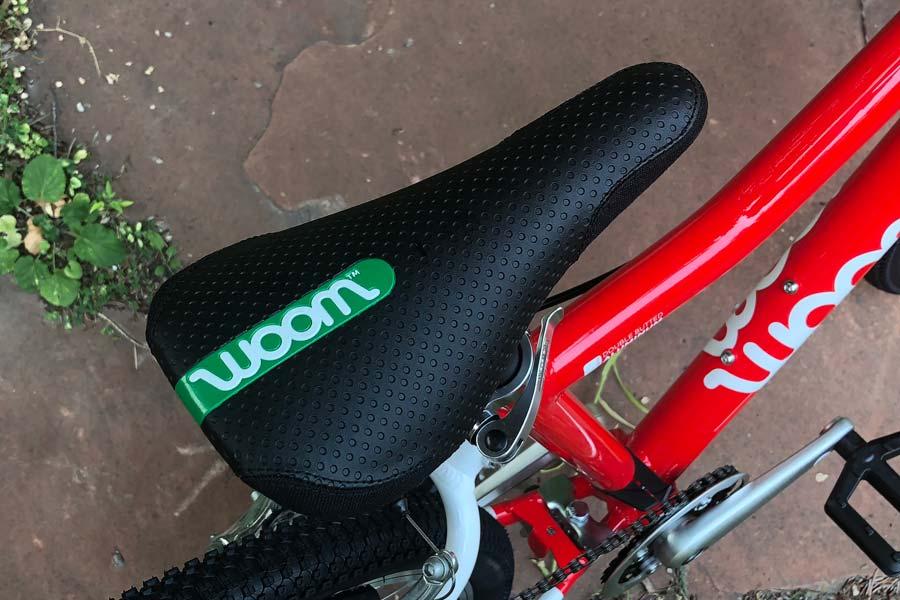 The Woom 5 child-sized saddle