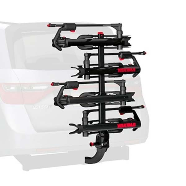 Yakima Hold Up mountain bike rack with the 2 bike add-on