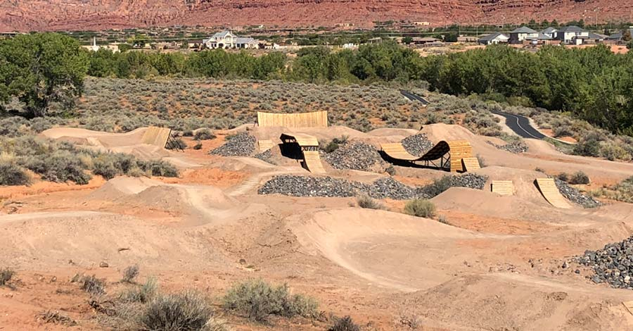 Advanced zone at the Snake Hollow Bike Park in St. George