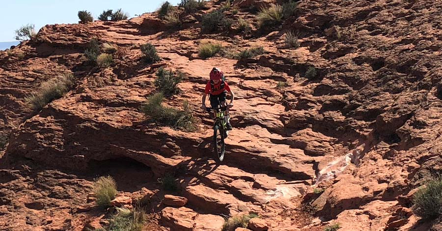 Church Rocks mountain bike trail in St. George, Utah