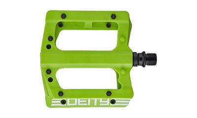 deity compound flat pedals for mountain biking kids
