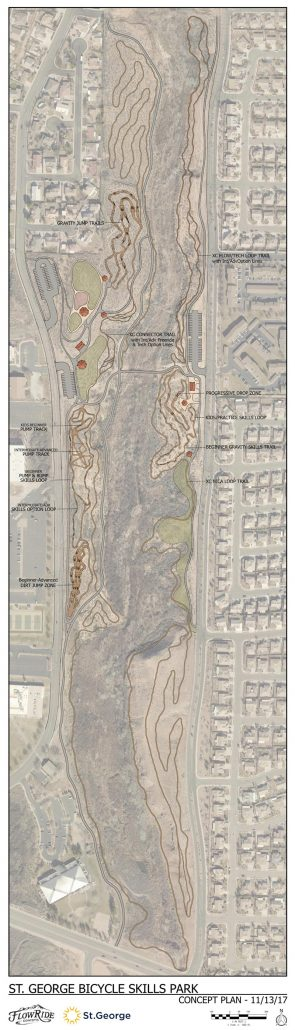 Map - Snake Hollow Bike Park in St. George, Utah