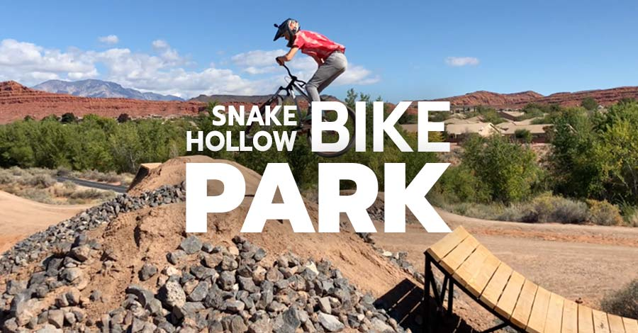 The Snake Hollow Bike Park in St. George, Utah