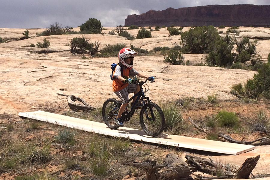 Beginning mountain bike trails in Moab - Bar M trail