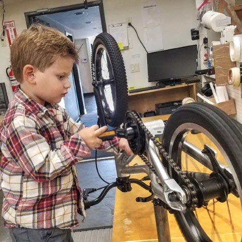 Building up a kids' bike