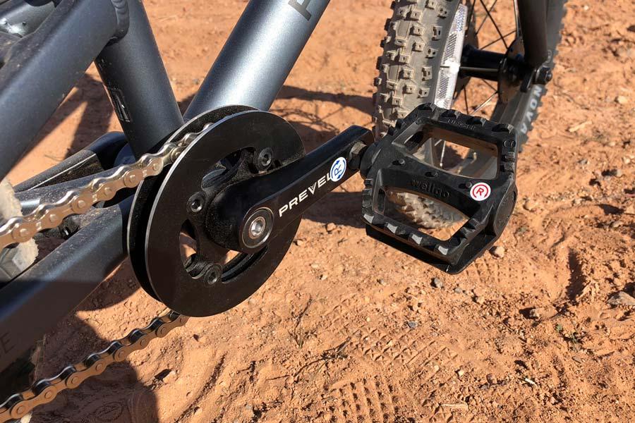 Bashguard crank and pedal - Zulu One