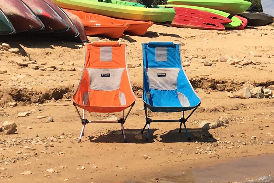 Lake day with the Helinox Two camping chairs