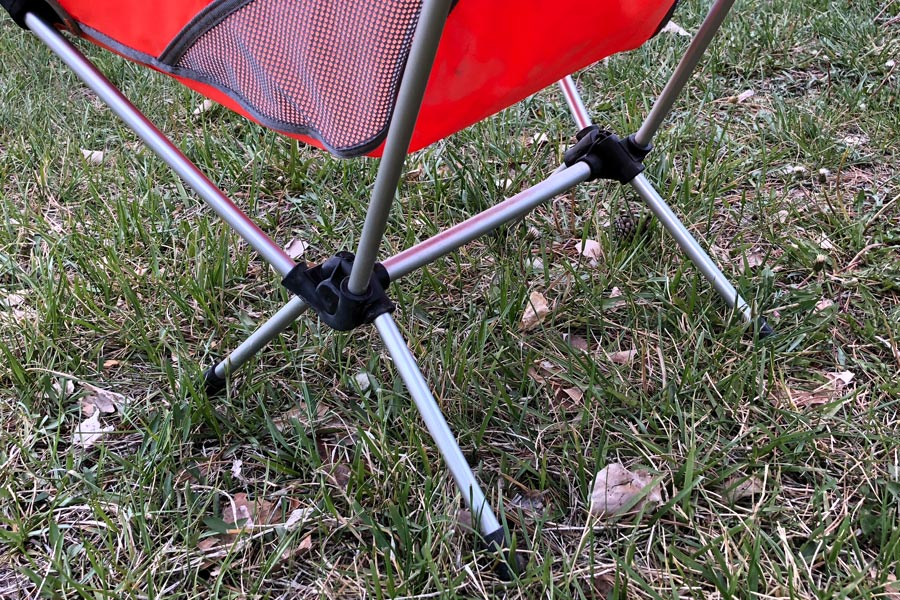 Detail of Helinox camping chair