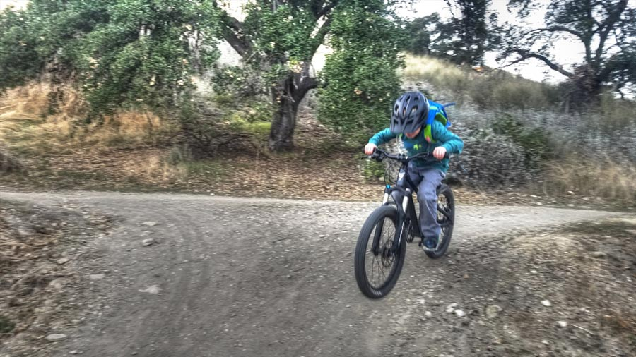 Ripping a trail on a Prevelo