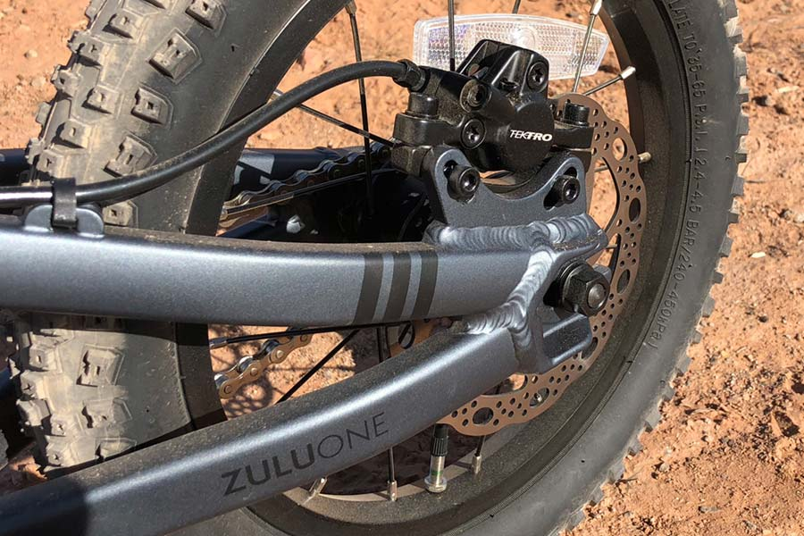 Rear hydraulic disc brake detail - Prevelo Zulu One