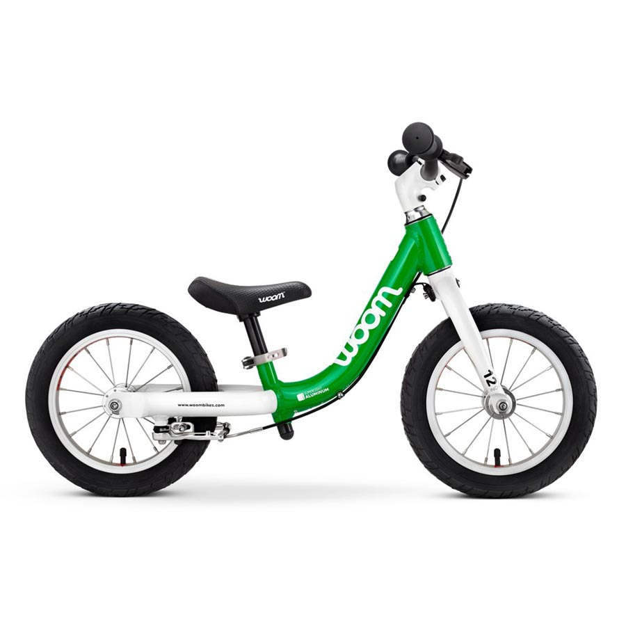Woom 1 balance bike - green