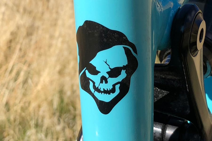 Reaper logo on the seat tube