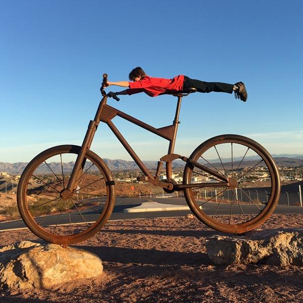 Bootleg Canyon bike sculpture