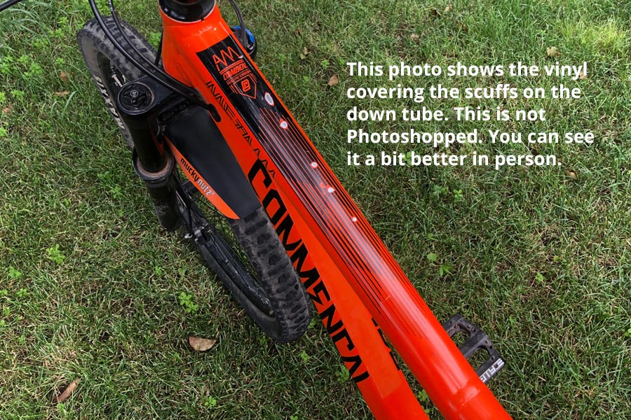 Covered down tube on mountain bike for sale