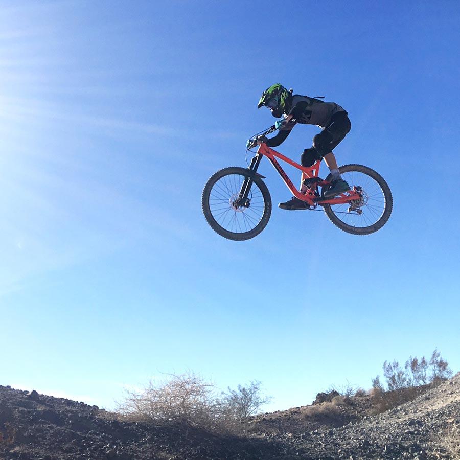 Advanced jump line at Bootleg Canyon mountain bike park