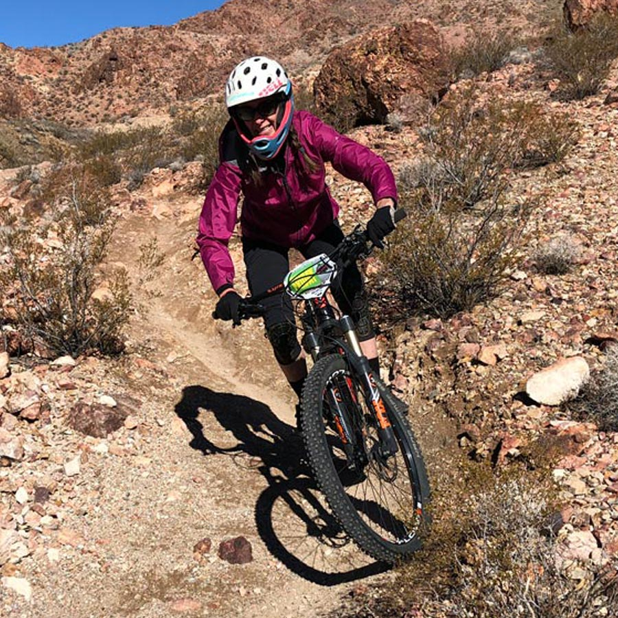 Mountain biking mom