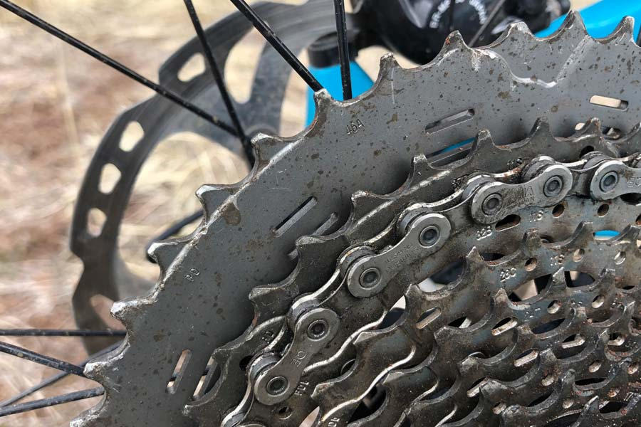 Rear cassette on the Pivot Mach 6 carbon