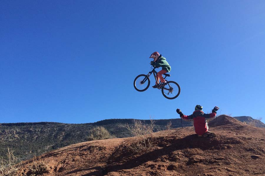 mountain bike kids jump virgin ut
