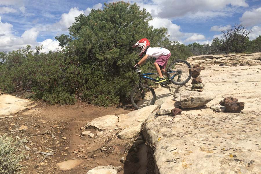 mountain biking can teach kids to take healthy risks