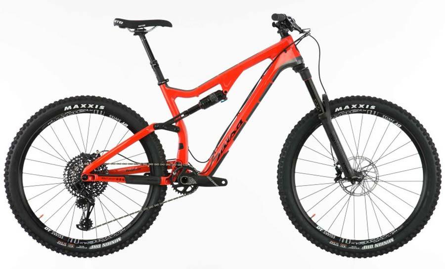 Full suspension mountain bike for teenage racer