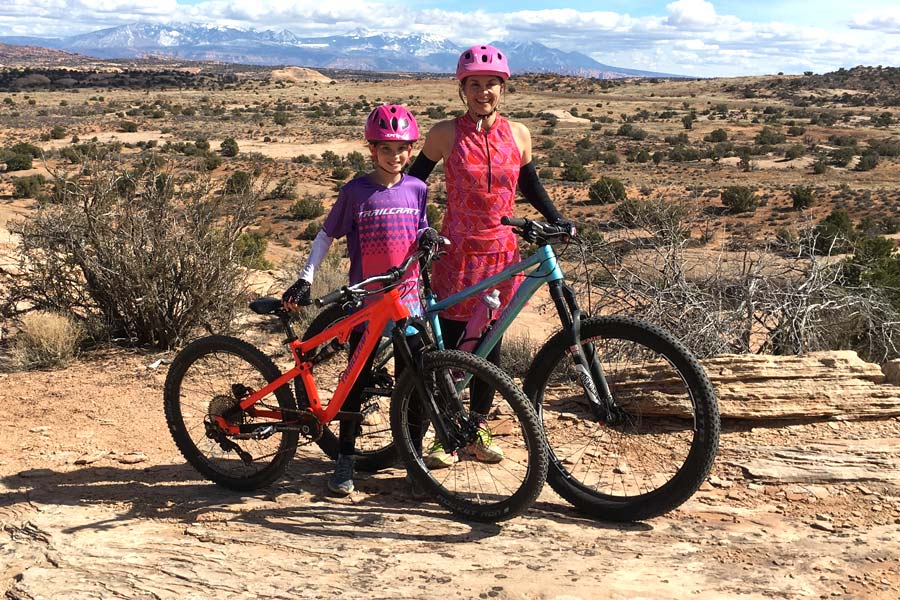 Ginger and daughter of Trailcraft Cycles