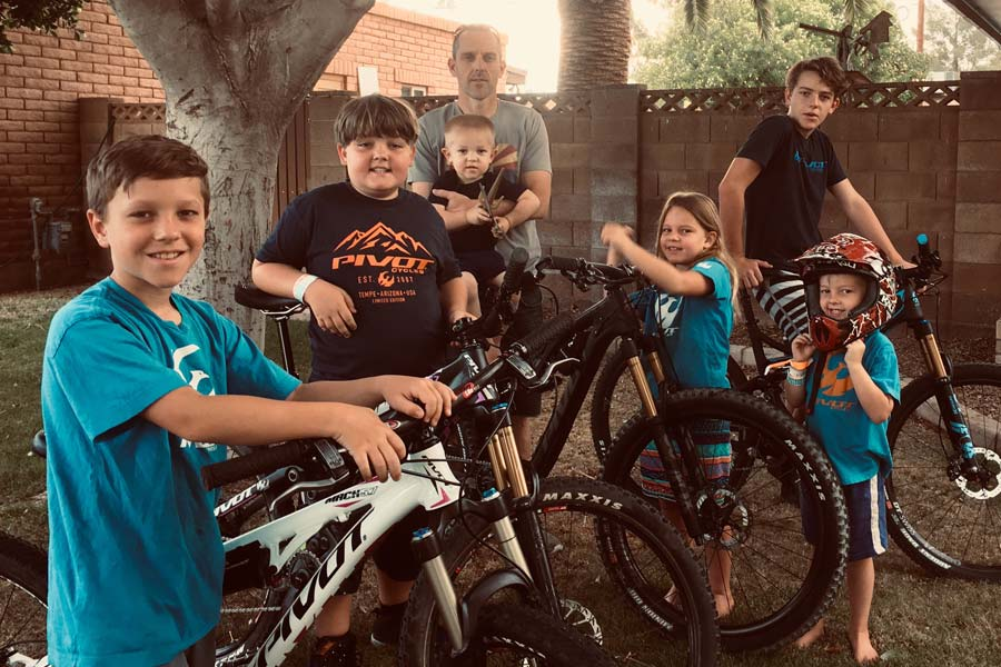 Ben Webster and Family - Father's Day bike checks, Pivot Cycles