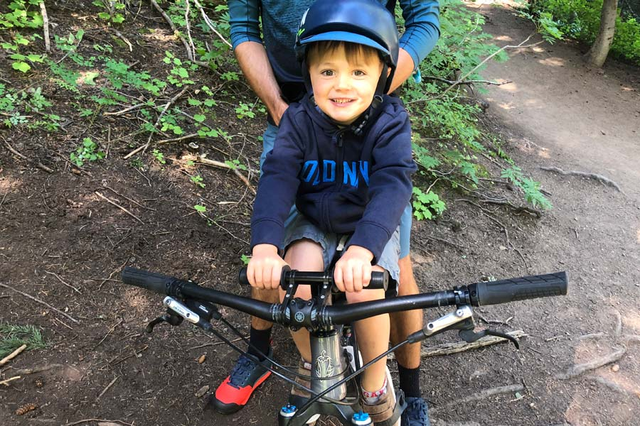 Kids Ride Shotgun MTB Seat Review - youth on bike