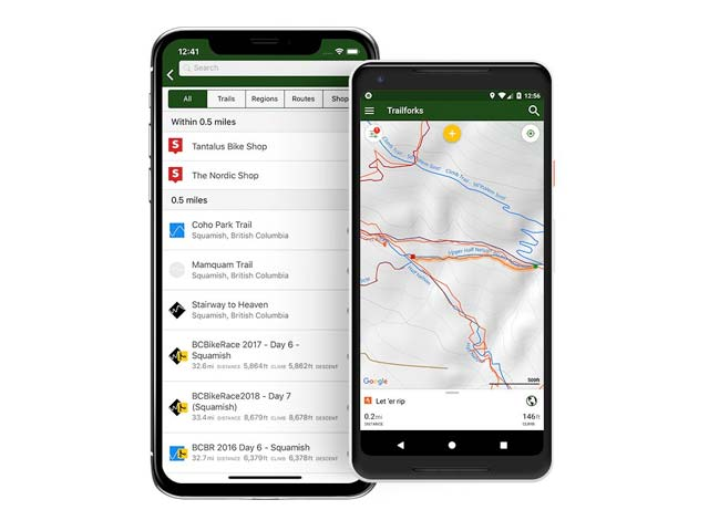 Trailforks MTB trail app