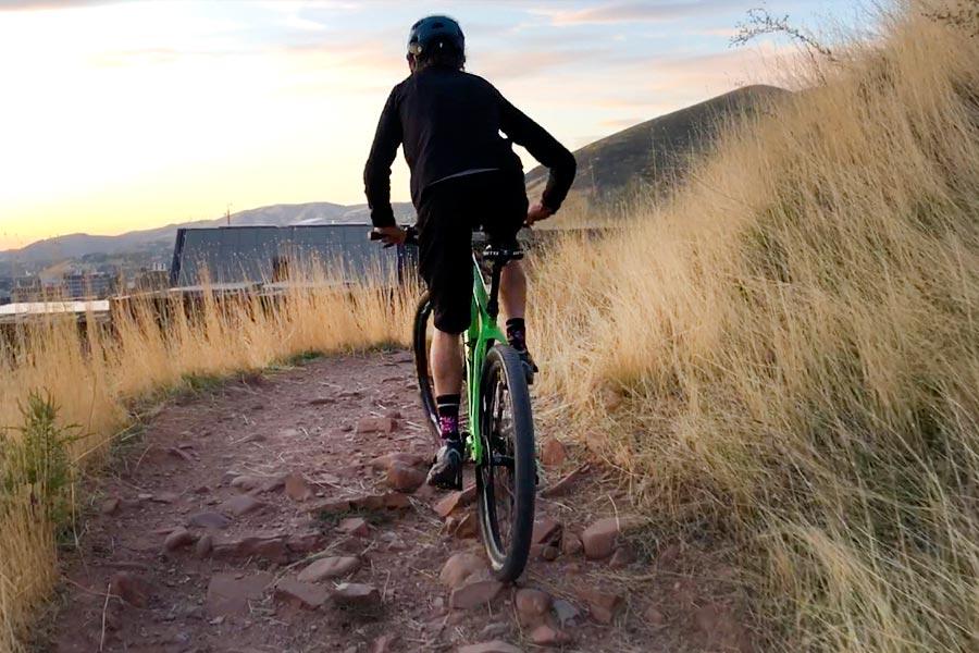 Climbing rocky singletrack, Fezzari Solitude review