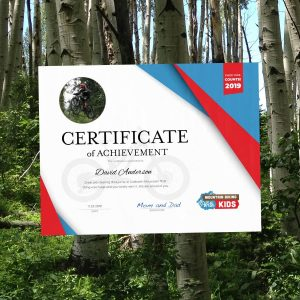 Create your mountain biking achievement certificate